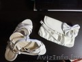 Продам белые босоножки (39р-р) и сумочку - 1раз б/у,  состояние идеальное