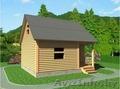 Баня-Дом из бруса Аксинья 6х7.5 Сруб установка Солигорский район - Изображение #4, Объявление #1618469